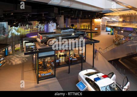 USA Washington DC National Law Enforcement Museum interior - Stock Image