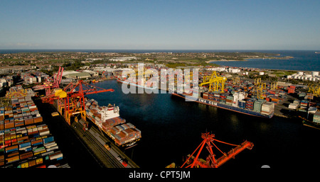Sydney container terminal in the Port of Botany Bay Australia - Stock Image