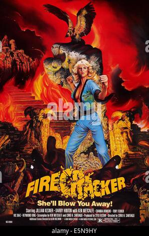 FIRECRACKER, US poster art, Jillian Kesner, 1981, © New World/courtesy Everett Collection - Stock Image