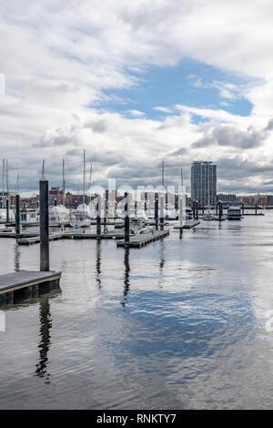 Charlestown Marina, Boston, Massachusetts, USA - Stock Image