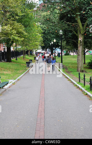 The Freedom Trail walking tour, Boston, Massachusetts, USA - Stock Image
