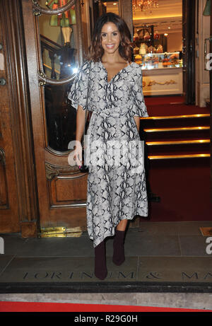'Fortnum and Mason: Christmas and Other Winter Feasts' book launch in London  Featuring: Shanie Ryan Where: London, United Kingdom When: 17 Oct 2018 Credit: WENN.com - Stock Image