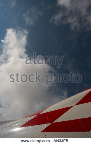 Pilatus PC9 nose Croatian markings detail with sky background - Stock Image