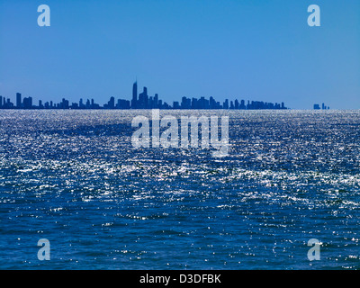 Gold Coast skyline Queensland Australia - Stock Image