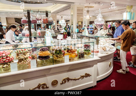 London England United Kingdom Great Britain West End St James's Piccadilly Fortnum & Mason shopping inside interior luxury upmarket department store g - Stock Image