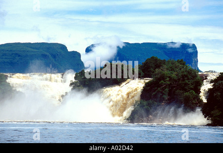 Waterfalls at Canaima, Amazon Jungle, Venezuela - Stock Image
