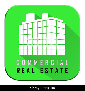 Commercial Real Estate Apartment Represents Property Leasing Or Realestate Investment. Includes Offices And Land Leasing - 3d Illustration - Stock Image