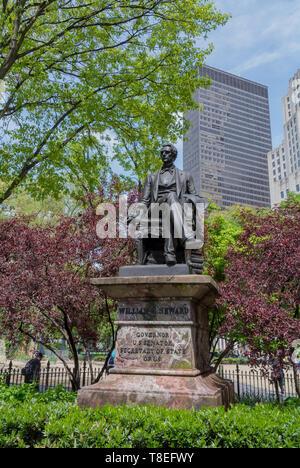 William Seward, Madison square park, Downtown, Manhattan, New York City, NY / USA - Stock Image