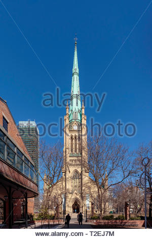 Historic Anglican Cathedral Church of St. James in Toronto Ontario Canada. - Stock Image