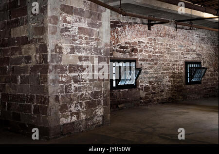 Interior of Castle Williams, Governors Island, New York City, USA - Stock Image