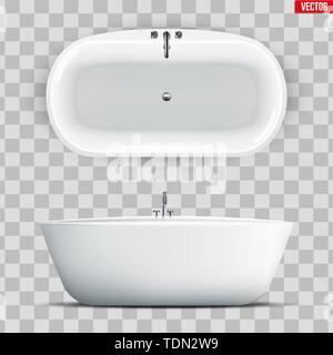Modern bath set isolated - Stock Image