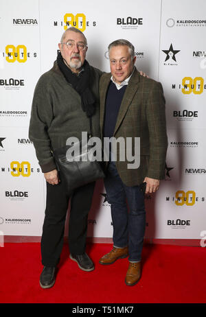 '90 Minutes' Launch Event hosted by executive producer Rio Ferdinand and director Simon Baker to celebrate the digital download and DVD release on 1 April  Featuring: Brian Croucher, Grant Davies Where: London, United Kingdom When: 19 Mar 2019 Credit: PinPep/WENN.com - Stock Image