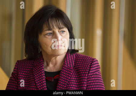 Politicians attend the Scottish First Minister's Questions at Holyrood. The first weekly questions after parliamentary recess.  Featuring: Jeane Freeman Where: Edinburgh, United Kingdom When: 13 Sep 2018 Credit: Euan Cherry/WENN - Stock Image