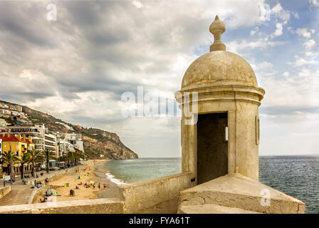 Sesimbra - portuguese Atlantic coast - Stock Image