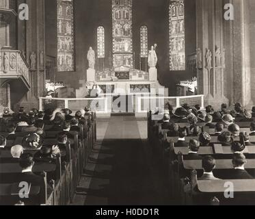 Parishioners attending mass - Stock Image