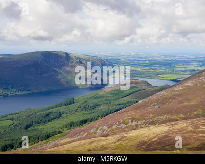 Views of Ennerdale Water and Crag Fell in the English Lake District, UK. - Stock Image