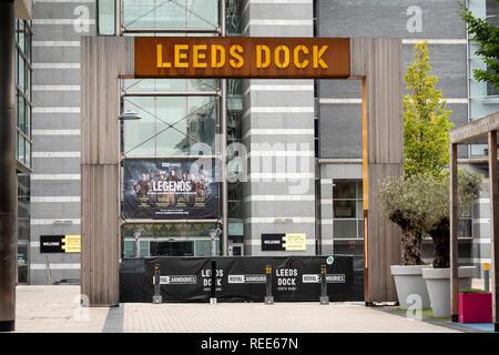 Leeds Dock Leeds West Yorkshire England - Stock Image