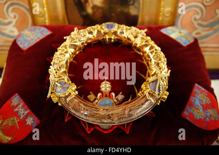 Notre-Dame de Paris cathedral. The holy crown of thorns worn by Jesus Christ during the Passion. - Stock Image