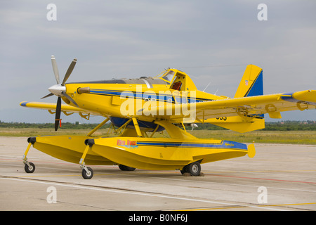 Air Tractor AT 802 A 'Fire Boss' on public display, Zemunik AFB, May 17, 2008 - Stock Image
