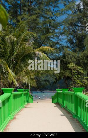 Green bridge to Kamala beach, Phuket, Thailand - Stock Image