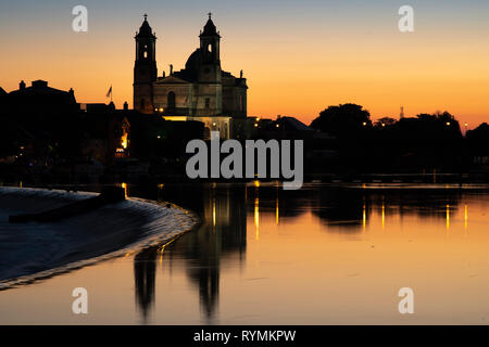 The Church of saints Peter and Paul on the banks of the River Shannon in Athlone County Westmeath - Stock Image