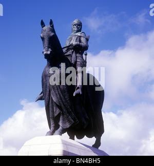 Statue of King Robert the Bruce Bannockburn Scotland - Stock Image
