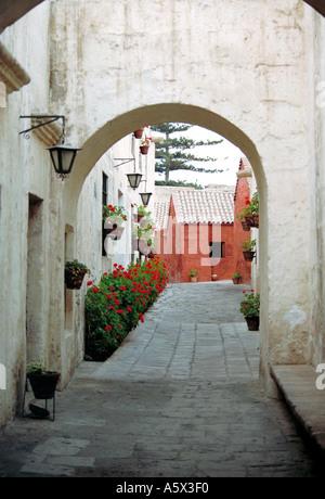 Santa Catalina Monastery Arequipa Peru - Stock Image