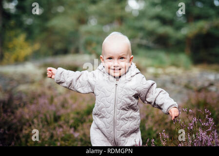 Smiling baby boy - Stock Image
