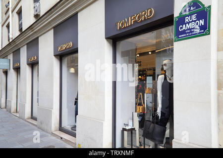 PARIS, FRANCE - JULY 22, 2017: Tom Ford fashion luxury store in Paris, France. - Stock Image