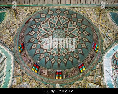 Dome, Mosque Tekyeh Moaven-ol Molk, Kermanshah, Iran - Stock Image