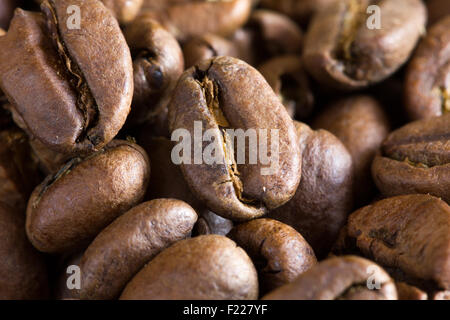 Background with many coffee beans. - Stock Image