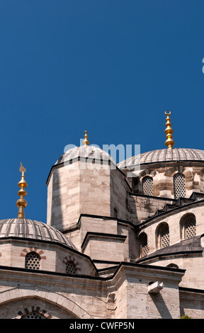 Domes of the Blue Mosque, Sultanahmet, Istanbul, Turkey - Stock Image