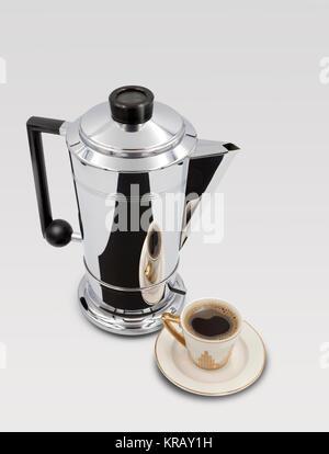 Vintage Art Deco Style 1950s Bulpitt & Son Swan Mayfair Electric Chrome Coffee Percolator - Stock Image
