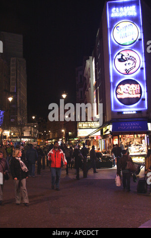 Leicester Square London at night - Stock Image