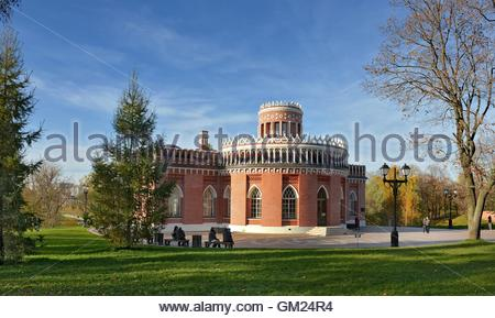 The building of the Third Cavalry Corps in the park 'Tsaritsyno'. Park Tsaritsyno - state historical-architectural - Stock Image
