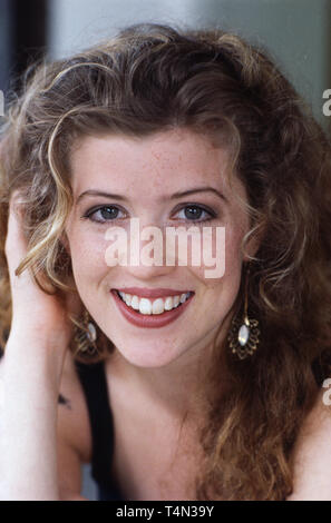 Fiona Schwartz, deutsche Film- und Fernsehschauspielerin, Deutschland 1991. German movie and TV actress Fiona Schwartz, Germany 1991. - Stock Image