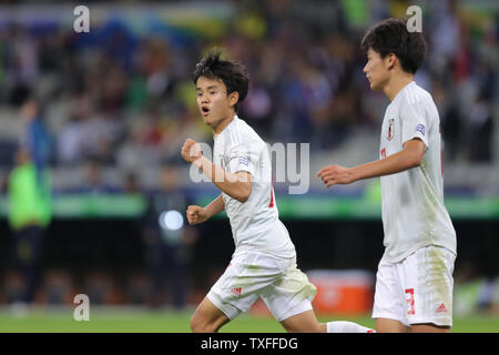 Takefusa Kubo (JPN), June 24, 2019 - Football / Soccer : Copa America 2019, Group C match between Ecuador 1-1 Japan at Estadio Mineirao in Belo Horizonte, Brazil. (Photo by AFLO) - Stock Image