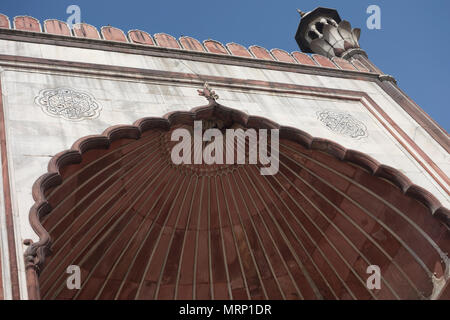 Detail of Jama Masjid Mosque, Old Delhi, Delhi, India - Stock Image