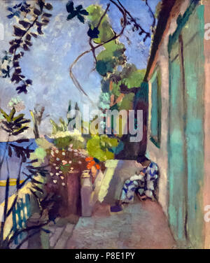 The Terrace St. Tropez, Henri Matisse, 1904, Isabella Stewart Gardner Museum, Boston, Mass, Massachusetts, North America, US, USA - Stock Image
