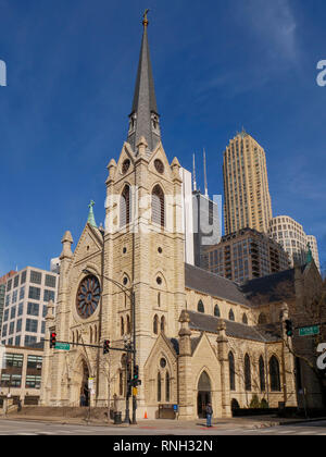 Holy Name Cathedral, Chicago, Illinois. - Stock Image