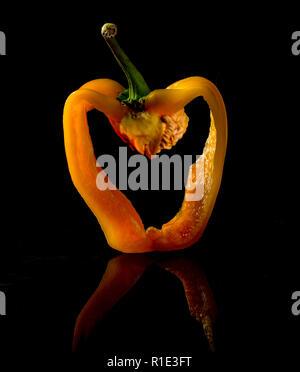 Sliced Yellow Pepper - Stock Image