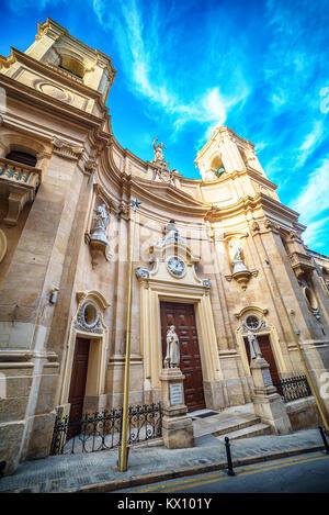 Valletta, Malta: Basilica of St Dominic - Stock Image