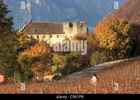 Castello di Monreale (Castle), Trentino region, Italy - Stock Image