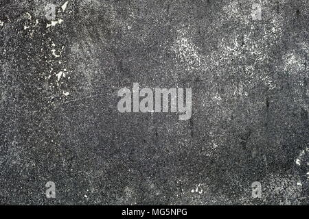 Black Grunge Concrete Wall Texture Background. - Stock Image