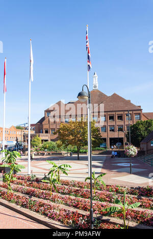 Hillington Civic Centre, High Street, Uxbridge, London Borough of Hillington, Greater London, England, United Kingdom - Stock Image