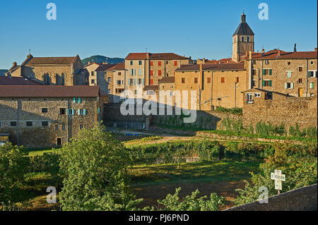 Saint Felicien in the Ardeche department, Rhone Alps region, France - Stock Image