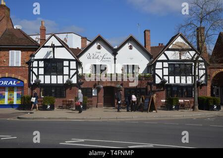 Wild swan Hotel, Rother Street, Stratford upon Avon, Warwickshire - Stock Image