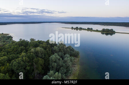 Lac De orient aerial images of a beautiful lake in France - Stock Image