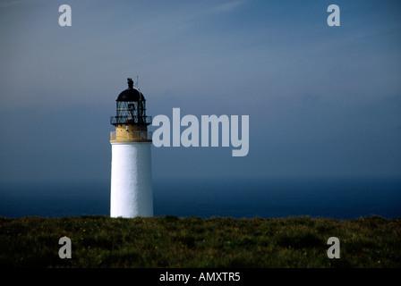 Noup Head Lighthouse Orkneys on the island of Westray Light Established 1898 Engineer David A & Charles Stevenson Position Latit - Stock Image