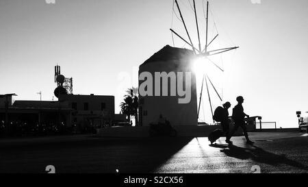 Greek windmill, Paros - Stock Image